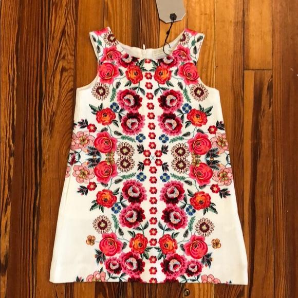 7bfee3e1 Zara Dresses | Nwt Kids Floral Sheath Dress Size 4 | Poshmark